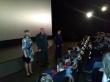 Воткинские школьники смотрят фильм «Офицеры» с большого экрана