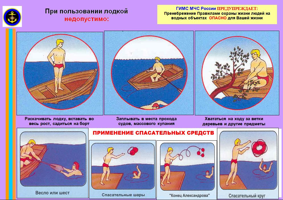 на лодке когда разрешается правила поведения